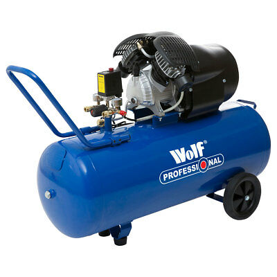 Wolf V Twin Air Compressor 100 Litre 3HP 14CFM 8BAR Compressor 240v Portable