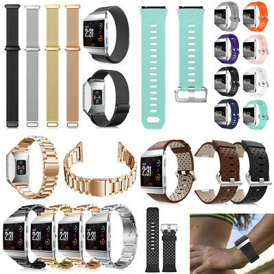 Stainless Steel Milanese/Leather/Silicone Replace Band Strap For Fitbit Ionic