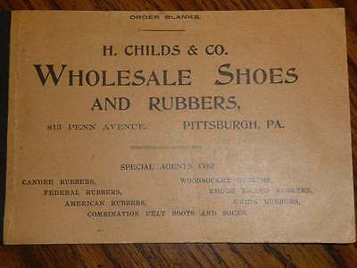 1901 Unused H. Childs & Co. Shoes & Rubbers Order Blank