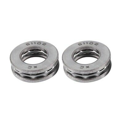 4Pc 51102 Axial Thrust Ball Bearings Sealed 3 part 15 x 28 x 9mm