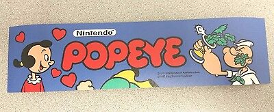 Popeye arcade marquee sticker. 2 5/8 x 10.5. (Buy any 3 stickers, GET ONE FREE!)