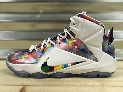 check out 58116 e833b ... closeout nike lebron xii 12 ext finish your breakfast shoes prism multi  sz 748861 900 ed053
