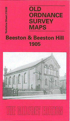 Old Ordnance Survey Map Beeston & Beeston Hill 1905 Leeds Elland Road Islington