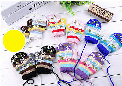 Snowflake Warm Infant Baby Boys Girls Kids Autumn Winter Warm Gloves MittensUK S
