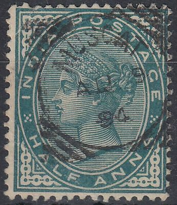 1894 India used in Muscat Oman 1/2a blue green SG# Z21, Donaldson Type9 [sr3171]