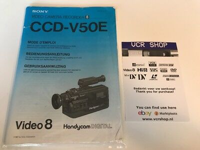 Manual: Sony CCD-V50e Camcorder - FR, DE, NL