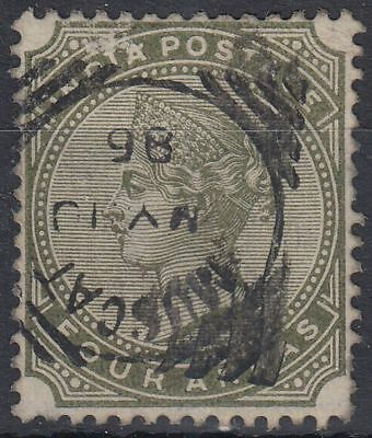 1886 India used in Muscat Oman, 4a olive-green, SG# Z28  [sr3174]