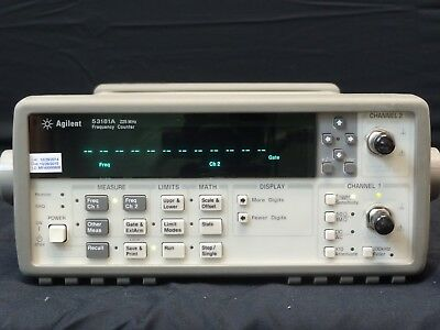 Agilent 53181A W/OPT 010-030 RF Frequency Counter, 3GHz Frequency, 10 digit/sec