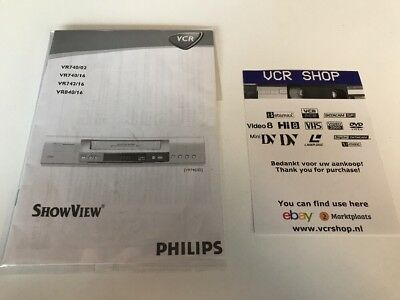 Manual: Philips VR740 VR742 VR840 - NL