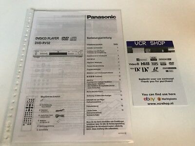Manual: Panasonic DVD-RV32 - DE