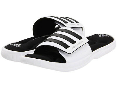 Mens Adidas Superstar 3G White Slides Athletic Sport Sandals G61951 Sizes 10-13