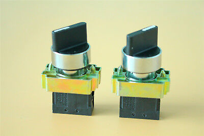 2pcs Select Selector Switch XB2-BD21C Maintained 2Position NO US Shipping