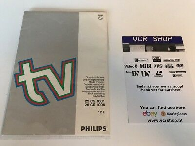 Manual: Philips TV 22CS1001 & 26CS1006 12F