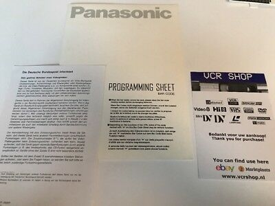 Manual: Panasonic Programming Sheet Barcode