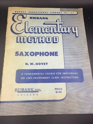 Rubank Elementary Method By Hovey Saxophone , 1961, No 41 Music Notes IBook