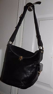 """Vintage Marino Oriandi Leather Purse made in Italy 12"""" long X 10.5"""" Awesome!!!!"""