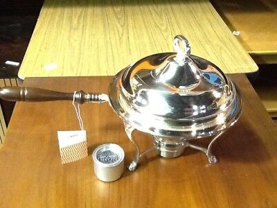 Gorham Textron silver warming stand and bowl
