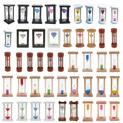 Wooden Frame Sandglass Hourglass Home Office Table Decoration Gift Kitchen Timer