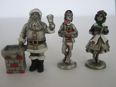 Hudson Pewter – Christmas Group – Santa and Two Carollers