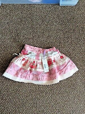 Girls Monsoon patterned skirt NWT age 12-18 months