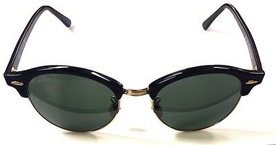 a8ee06afe6ac22 ... New Ray-Ban Rb4246 901 Clubround Classic Black Green Classic G-15  Sunglasses ...