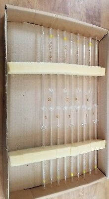 PYREX Volumetric Pipets, Case of 9 Class A, Tempered TopTip, Corning 20 ML NEW