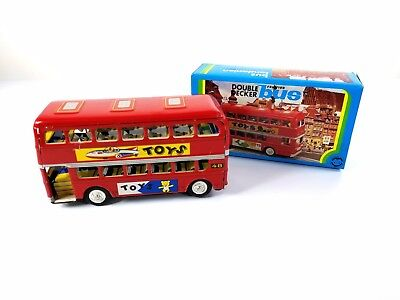 Double Decker Bus Friction Toy Red Die Cast - MF844