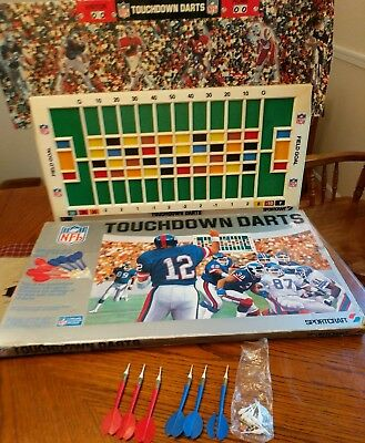 Vintage Nfl Football Touchdown Darts Game..by Sportscraft..rare..nice