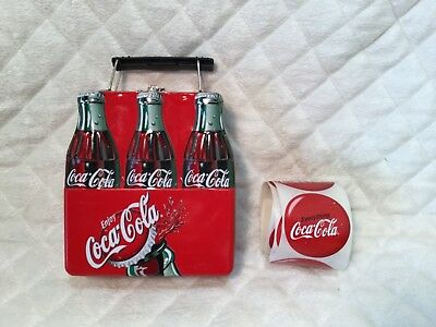 Coca-Cola Tin Lunchbox 6 Pack With Stickers