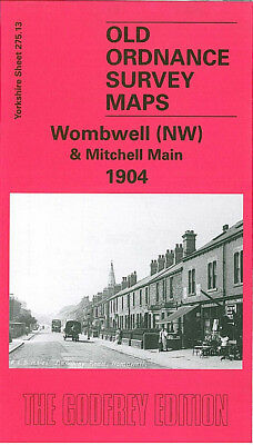 Old Ordnance Survey Map Wombwell Nw & Mitchell Main 1904 Barnsley Road Blythe St
