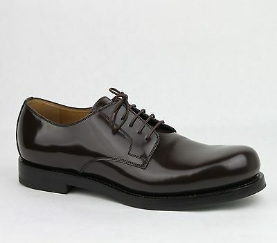 c7d446ce090  860 New Gucci Men s Shiny Brown Leather Cocoa Oxford Lace-up Shoes 386542  2140