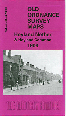 Old Ordnance Survey Map Hoyland Nether & Hoyland Common 1903 Hamshaw Lane