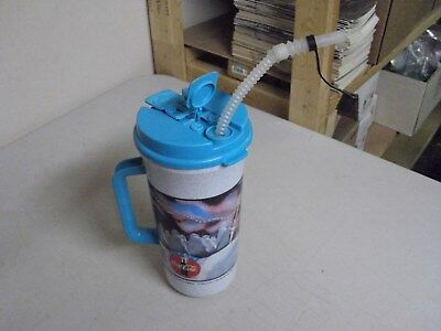 Vintage Coke Plastic Travel Mug Or Cup With Straw