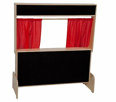 """Wood Designs WD21652 Deluxe Puppet Theater with Flannel Board, 48 x 47 x 6"""" H x"""