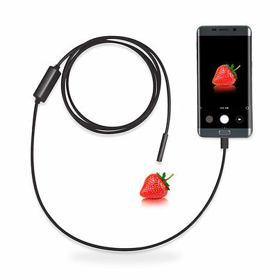 2M 7MM Android Endoscope Snake Borescope Waterproof USB Inspection Camera Phone