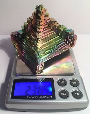 Spectacular 238.5 Gram 999.0 Pure BISMUTH CRYSTAL CASTLE (Great Investment)