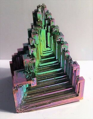 Spectacular 109 Gram 999.0 Pure BISMUTH CRYSTAL CASTLE (Great Investment)