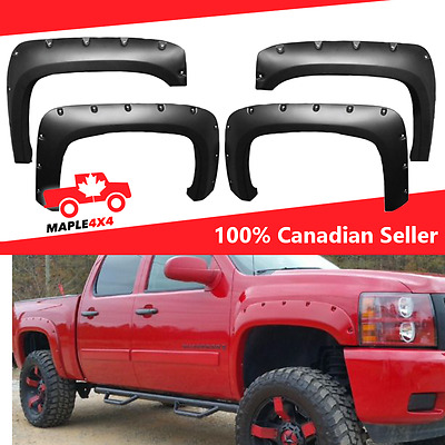 Paintable Reg/Long Box (6.5ft/8ft) 07-13 Chevy Silverado 1500  Fender Flares