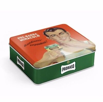 NEW PRORASO VINTAGE GIFTBOX KIT REFRESH Shaving Kit Cream Balm Eucalyptus