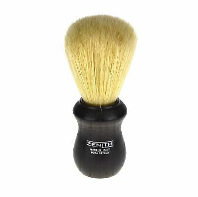 NEW ZENITH SHAVING BRUSH Mens Facial Hair Shave Bristle Barber BLACK WOOD