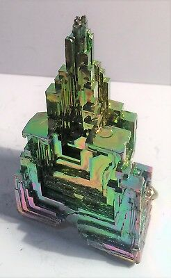 Spectacular 84.7 Gram 999.0 Pure BISMUTH CRYSTAL CASTLE (Great Investment)