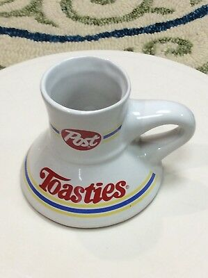 Vintage Post Toasties Cereal Travel Non Slip Wide Bottom Travel Coffee Mug Cup