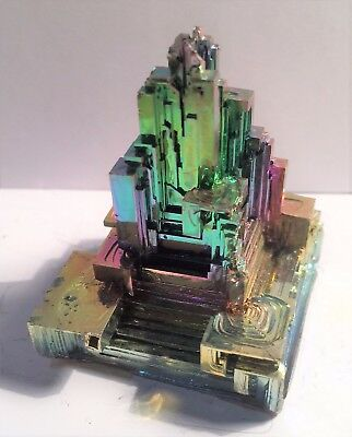 Spectacular 160.5 Gram 999.0 Pure BISMUTH CRYSTAL CASTLE (Great Investment)