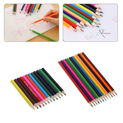 1Set 12 Color Colored Pencils Premium Watercolor Lead Free Children Drawing Tool