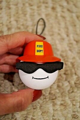 New Antenna Ball Christmas Ornament Fireman Fire Dept F&a Credit Union Bank
