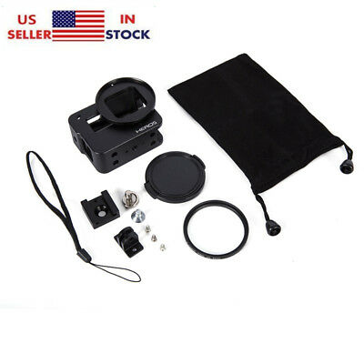 Hot Aluminum Protective Housing Shell Case Frame Filter Lens For Gopro Hero 6 5