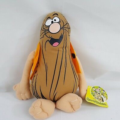 Captain Caveman Plush Doll Soft 12 inches with tag Hanna Barbera Toy Factory