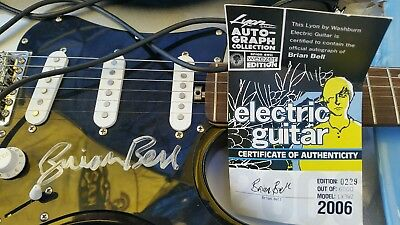 Brian Bell Of Weezer Limited Edition Signed Lyon Washburn Electric Guitar Coa Musical Instruments & Gear Guitars & Basses