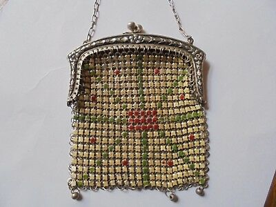 Art Deco Mesh Purse/ Kettentasche