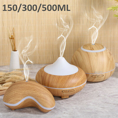 150/300/500ML Essential Oil Aroma Diffuser LED Ultrasonic Air Mist Aromatherapy